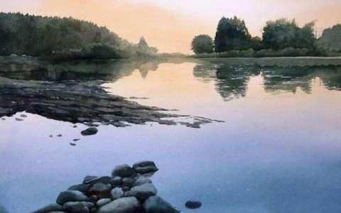 阿部智幸水彩画风景图片,时光静好