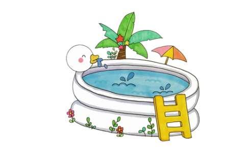 游泳池简笔画图片 游泳池是怎么画的