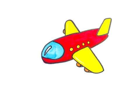 儿童飞机简笔画图片 儿童飞机是怎么画的