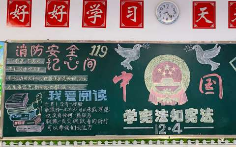中国法制黑板报图片 学宪法知宪法