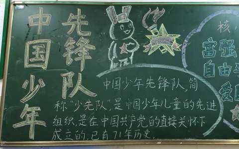 中国少年先锋队主题简单黑板报图片