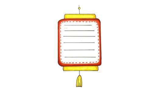 手抄报灯笼边框图片 灯笼怎么话