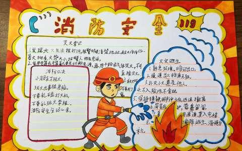消防安全主题手抄报高清图片