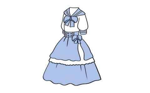 动漫裙子简笔画图片 动漫裙子怎么画