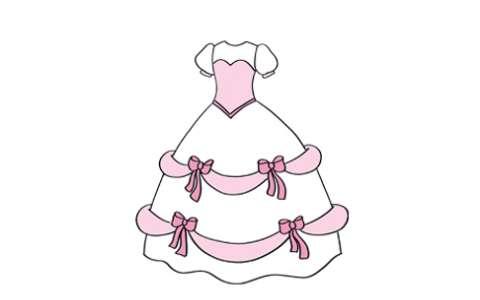 婚纱裙简笔画图片 婚纱裙是怎么画的