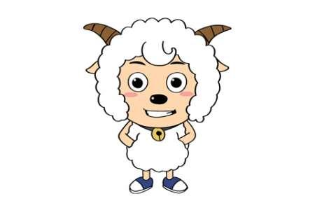 喜羊羊简笔画图片 喜羊羊怎么画