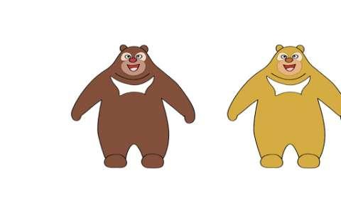 熊大熊二简笔画图片 熊大熊二怎么画