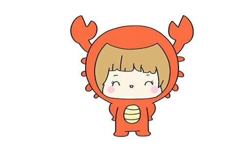 巨蟹座简笔画图片 巨蟹座是怎么画的