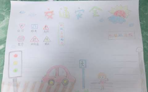 交通安全手抄报版面设计图片