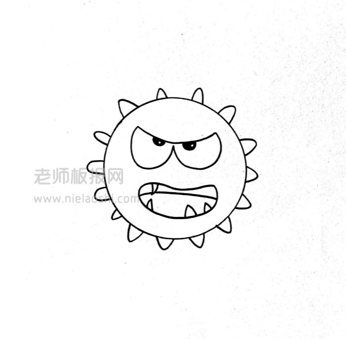 病毒简笔画图片 病毒是怎么画的