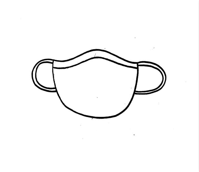 口罩简笔画图片 口罩是怎么画的