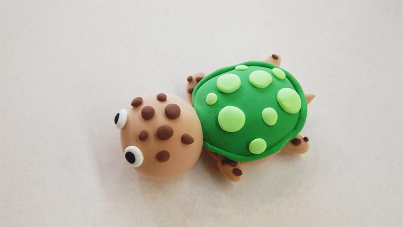 超轻粘土做乌龟教程图片 粘土是怎么做乌龟的