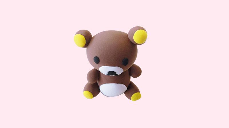超轻粘土轻松熊的做法 粘土是怎么做轻松熊的