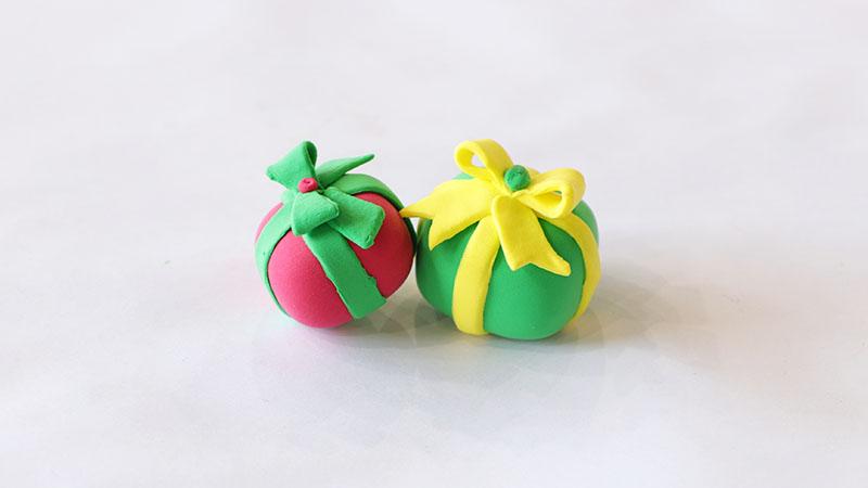 超轻粘土礼物盒教程图片 粘土是怎么做礼物盒