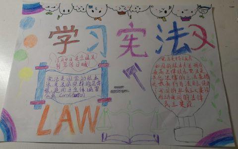 学习贯彻中华人民共和国宪法手抄报图片