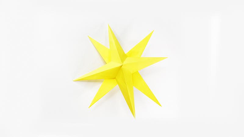 圣诞星折纸教程图片 圣诞星是怎么折的