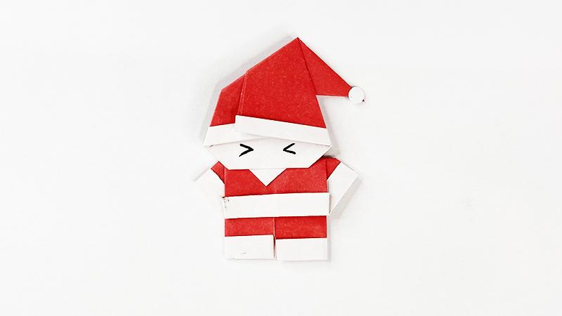 圣诞老人折纸教程图片 圣诞老人如何折