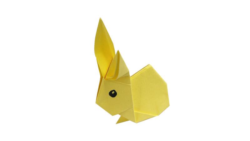 可爱小兔子折纸教程图片 小兔子如何折