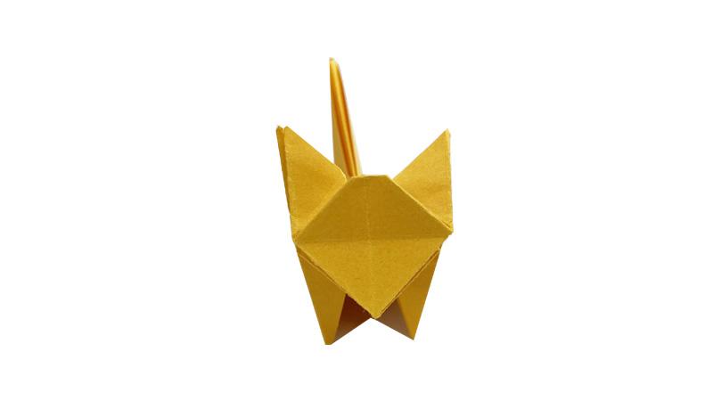 立体小猫折纸教程图片 小猫是怎么折的