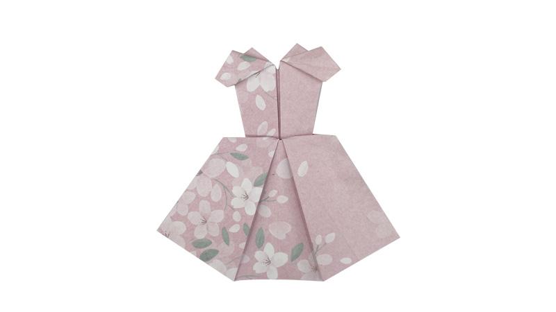 公主裙折纸教程图片 公主裙是怎么折的