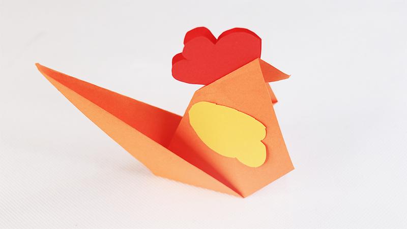 小鸡折纸教程图片 小鸡是怎么折的