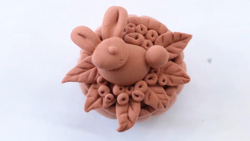 超轻粘土月饼教程图片 粘土是怎么做月饼