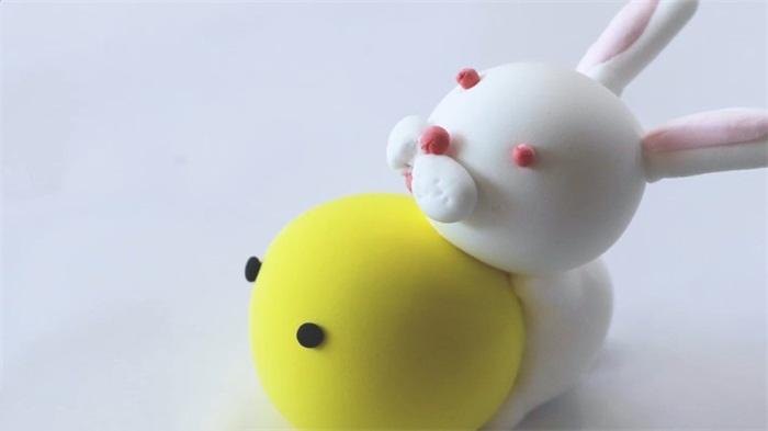 兔子超轻粘土的做法教程图片 粘土是怎么做兔子