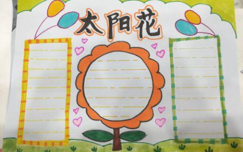 小学生太阳花手抄报版面设计图片