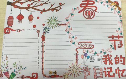 春节手抄报图片 春节我的节日记忆