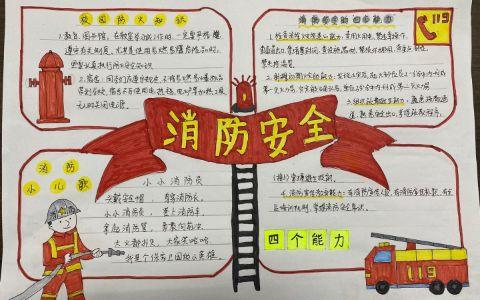 """消防安全手抄报图片 消防安全的""""四个能力"""""""