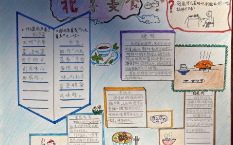 北京美食手抄报图片 北京烤鸭