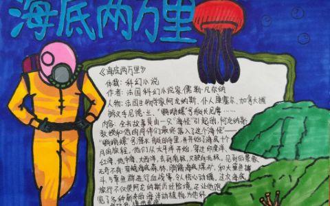 科幻小说海底两万里手抄报图片