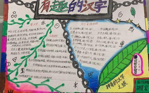 有趣的汉字手抄报图片 汉字的起源