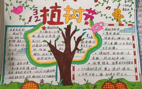 3·12植树节绿色环保手抄报图片