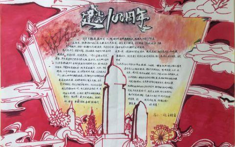 庆祝中国共产党建党100周年手抄报图片