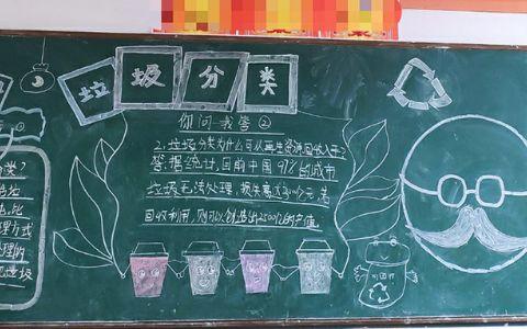 垃圾分类黑板报图片