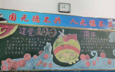 热烈庆祝建党100周年黑板报图片