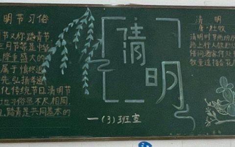 清明节主题黑板报图片