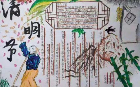 清明节传统习俗手抄报图片