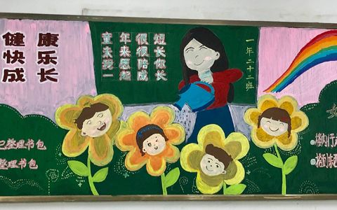 小学生快乐成长与好习惯黑板报图片