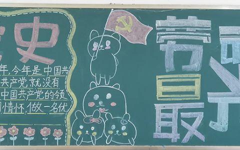 小学生学党史黑板报图片