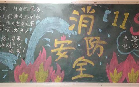 小学生消防安全进校园黑板报图片