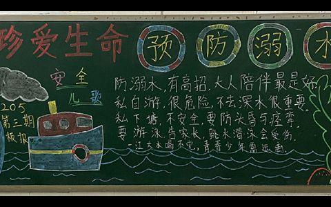 中小学生珍爱生命预防溺水黑板报图片