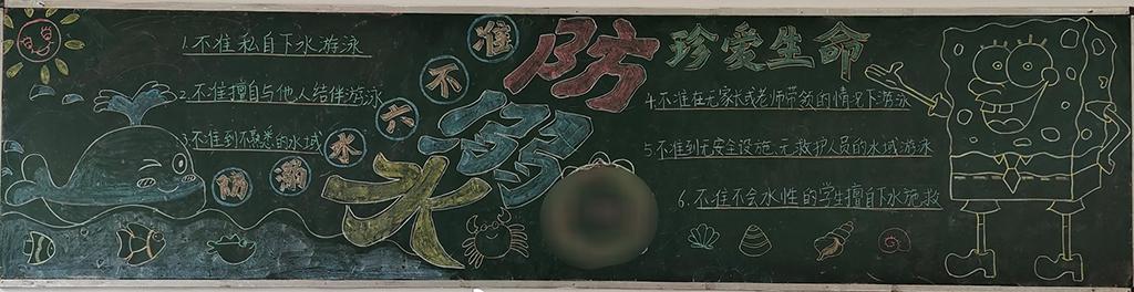 防溺水珍爱生命黑板报图片