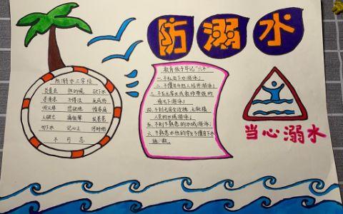 小学生防溺水手抄报图片