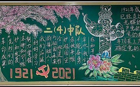 1921--2021忆党史颂党恩黑板报图片