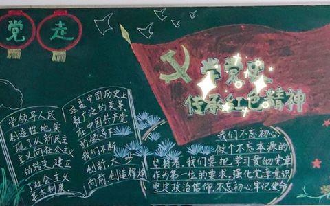 学党史传承红色基因黑板报图片