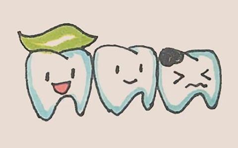牙齿简笔画图片