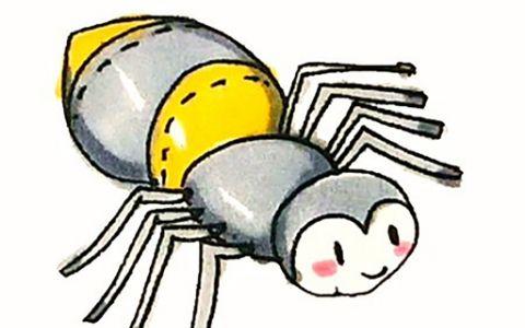蜘蛛简笔画图片 蜘蛛是怎么画的