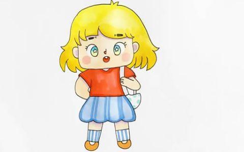 Q版动画小女孩简笔画图片 Q版动画小女孩如何画